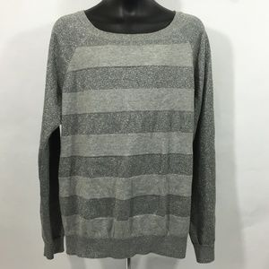 a.n.a. new approach Grey Blouse Long Sleeve Size L